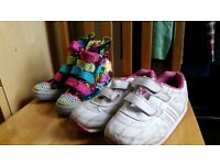 Pop star boots and whit trainers Size 13