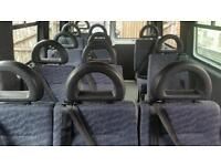 Mini bus seats with belts