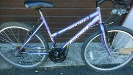 CASCADE LADIES MOUNTAIN BIKE 🚴, 18 INCH FRAME, 26 INCH WHEEL'S, 18 GEARS, GOOD CONDITION..