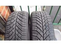 2 x Continental Winter Tyres