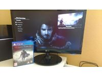 middle earth shadow of mordor playsation 4 (ps4) perfect condition