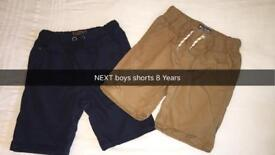 Pair of NEXT boys shorts age 8 years