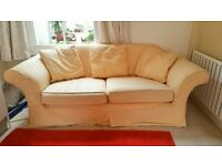 Sofa with machine washable covers and cushions