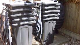 for sale ! new 240 litre grey wheelie bin from £37.50 each