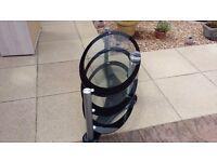 lovely hardened glass oval tv table