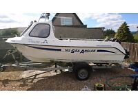 Predator 165 fishing boat, trailer, Mercury 60hp outboard