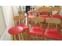 Dining room chairs and stools