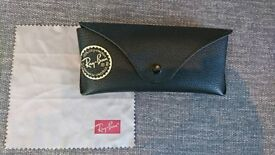 Ray-Ban leather glasses case