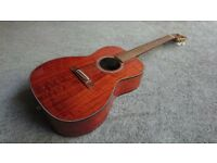 Takemine EF407X New Yorker/parlour electro acoustic guitar.