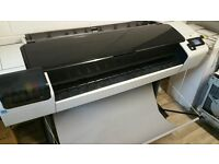 "HP DesignJet T1300 44"" A0 Wide Format ePrint Twin Roll Feed Plotter & Warranty"