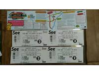 Carfest south Friday tickets. 2x adult, 1x child, 1xunder 5