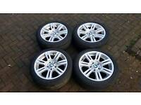 GENUINE BMW 17 INCH ALLOY WHEELS E90 E92 M SPORT 3 1 SERIES E46 VIVARO TRAFIC