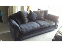 Dfs 3 seater sofa Black /grey Can deliver