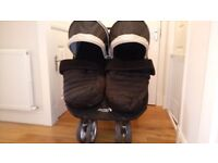Double Buggy - Black City Mini by babyjogger