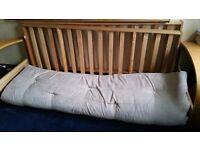 Futon, 6 feet in length, Seade matress like cover