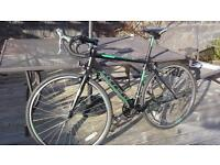 "gents carrera cyclo cross, barely used, 51"" frame, 27"" wheel, 16 speed gears £130"