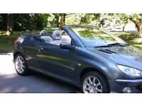 2006 peugeot 206 cc convertible hdi diesel cream leather fsh *£2095 COLT CC MICRA CC MX5 MR2 VW SIZE