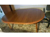 Dining room table and 8 chairs