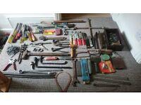huge Job lot of assorted vintage hand tools