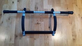 Pull up bar and push up stands.