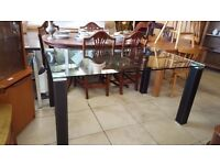 Glass Dining Table - Excellent Condition NO CHAIRS!
