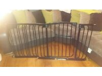 black extra wide stair gate