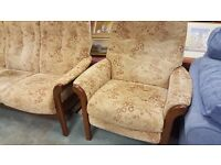 Three Seater & 2 X Armchairs Made By CINTIQUE in Great Condition