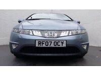 2007│Honda Civic 2.2 CTDI EX │ REDUCED │3 MONTHS WARRANTY │SAT NAV │SUEDE SEATS│CRUISE CONTROL│MOT