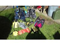 Diving kit, BCD's, fins, torch etc £50