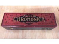 CHROMATIC HARMONICA HONNER WITH BOX