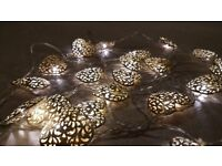 Silver Heart Fairy Lights- Debenhams