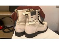 G-Star Raw men's white leather boots RRP £199.99 size UK8 US9