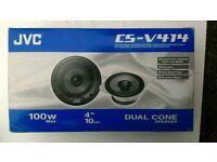 "JVC CS-V414 100W 4"" 10CM Dual Cone Speaker"