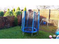 Plum Junior Trampoline and Enclosure (Blue)
