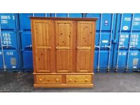 Quality Solid Pine Three Door Wardrobe,Possible Delivery