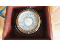 ships compass solid brass belfast sharman d neill ltd vintage original sign see 5 images