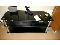 Tv black glass table so169gw