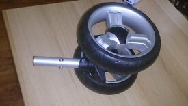 Brand new Icandy Original Apple Pear Spare Replacement Front Wheel Silver And Black