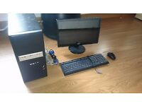 Computer/PC/Desktop with FULL HD ACER Monitor keyboard mouse and speakers