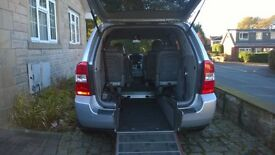 Rear access wheelchair adapted Kia sedona
