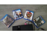 Ps4 with games n control