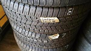 Set of four tires size 265 65 18 for sale