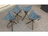4 Folding Camping /Fishing/Hiking Stools with carry strap