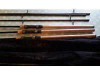 Mlt extractor 10ft 3lb carp cork handle rods x3