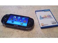 ps vita + 4gb memory + 2 GAMES and charger