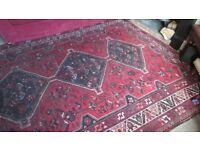 Antique Red Persian Rug. Very Large. 196 x 278cm (6.4 x 9.1 feet)