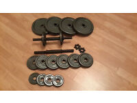 Dumbell set & iron plates