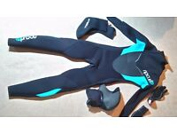 Ladies nearly new wetsuit
