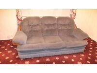 Three Piece Suite Settee and Two Chairs Sofa