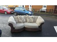 3 seater sofa in suede & material £99 delivered in belfast